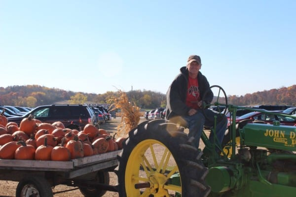 Don brings in a load of pumpkins!