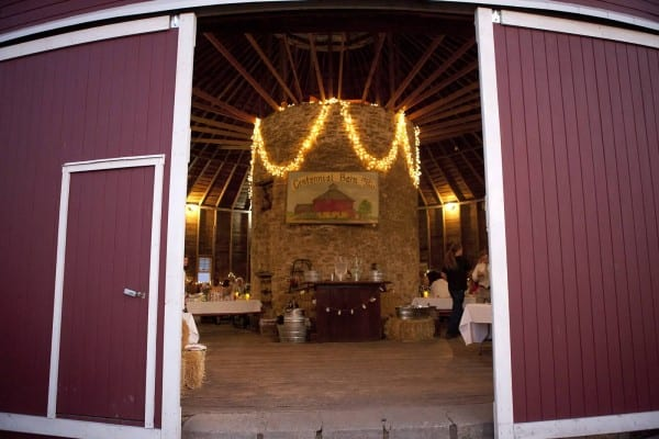 The round barn is ready for a reception….photo courtesy of Jen Lazarski
